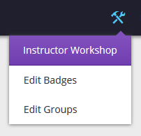 Instructor Workshop menu screenshot